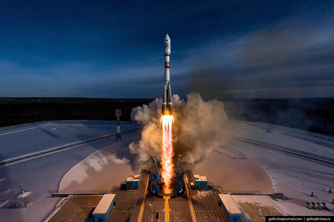 Пуск ракеты-носителя Союз-2.1a с космодрома Восточный