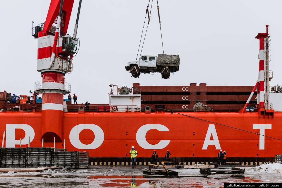 Архангельский морской торговый порт севморпуть лихтеровоз росатомфлот