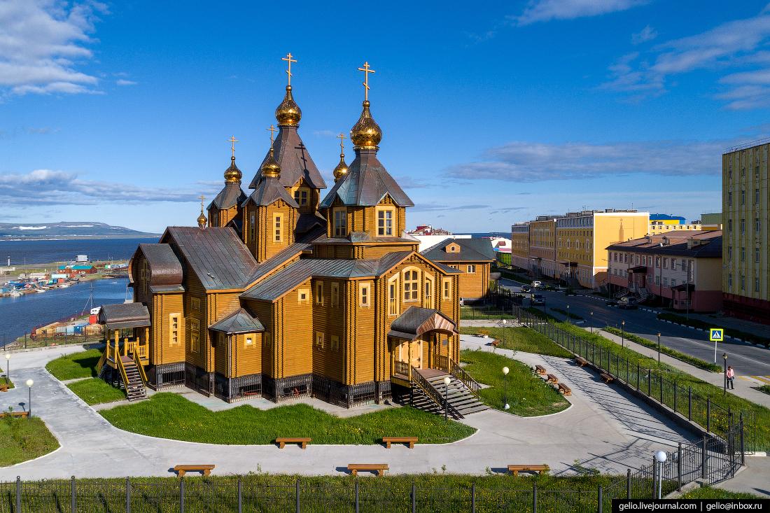 Анадырь с высоты Кафедральный собор Святой Живоначальной Троицы