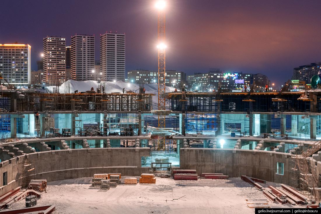 Строительство ледовой арены Новосибирск
