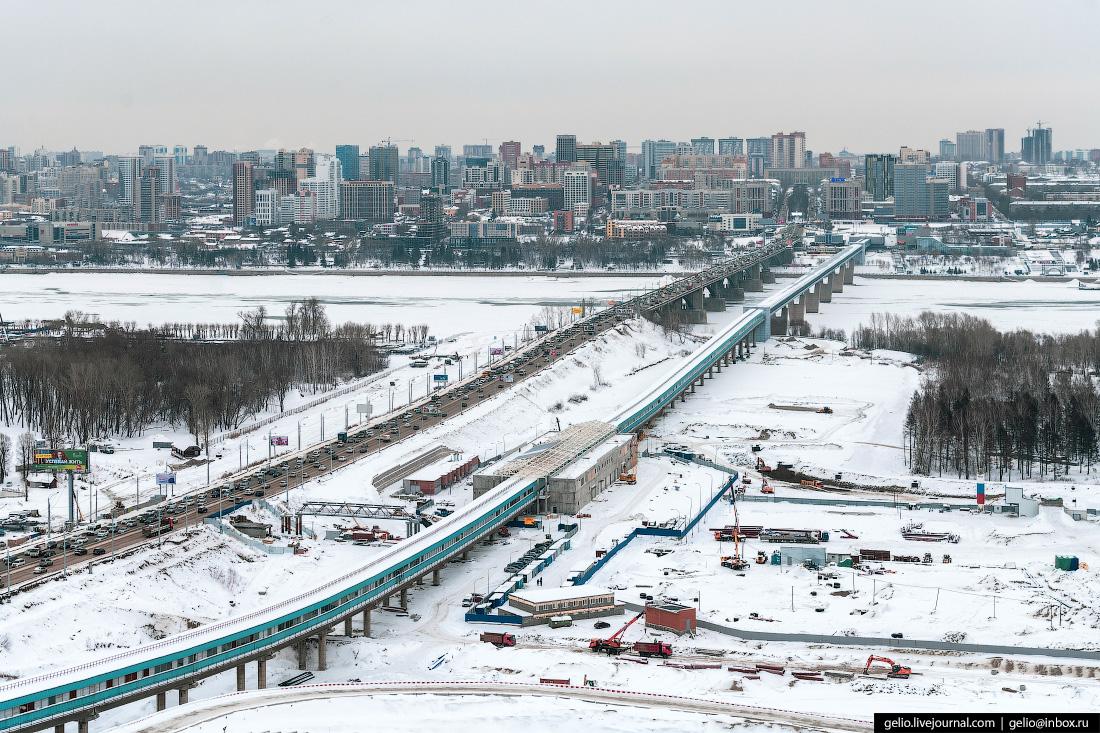 Строительство станции метро Спортивная Новосибирск