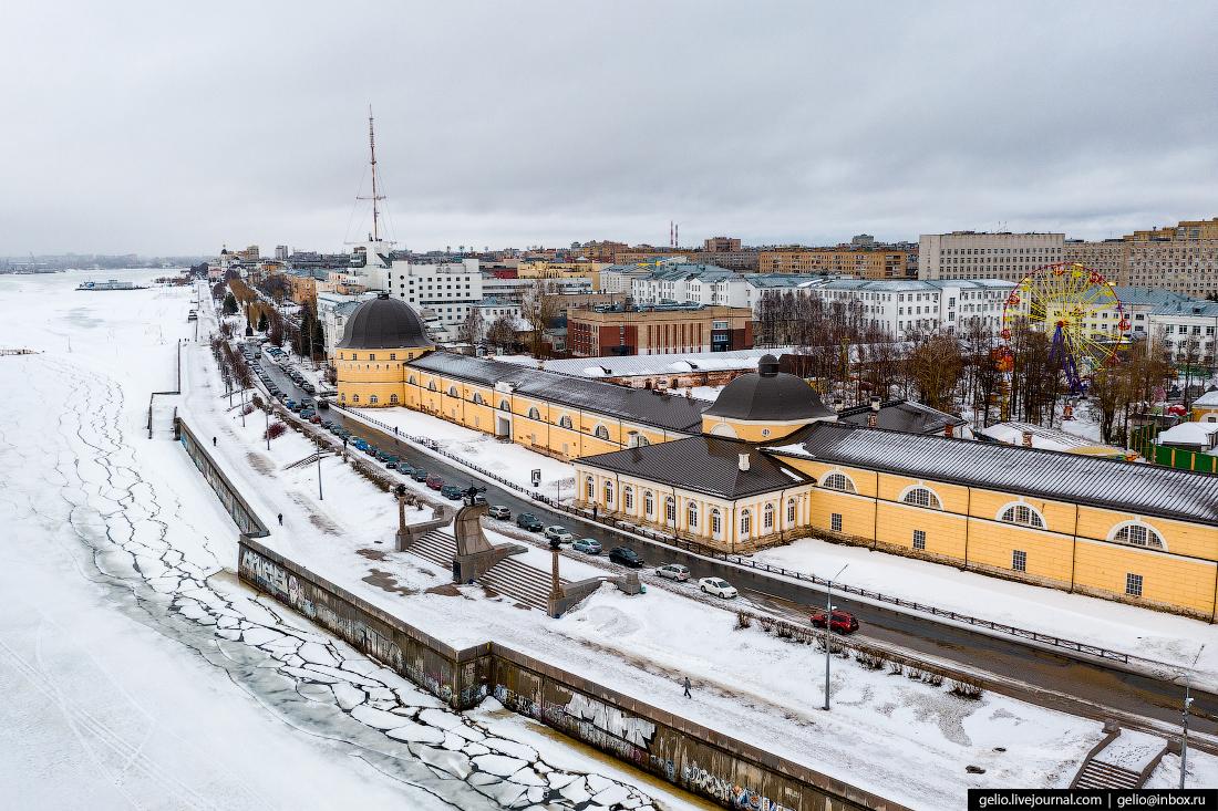 Архангельск с высоты Гостиный двор