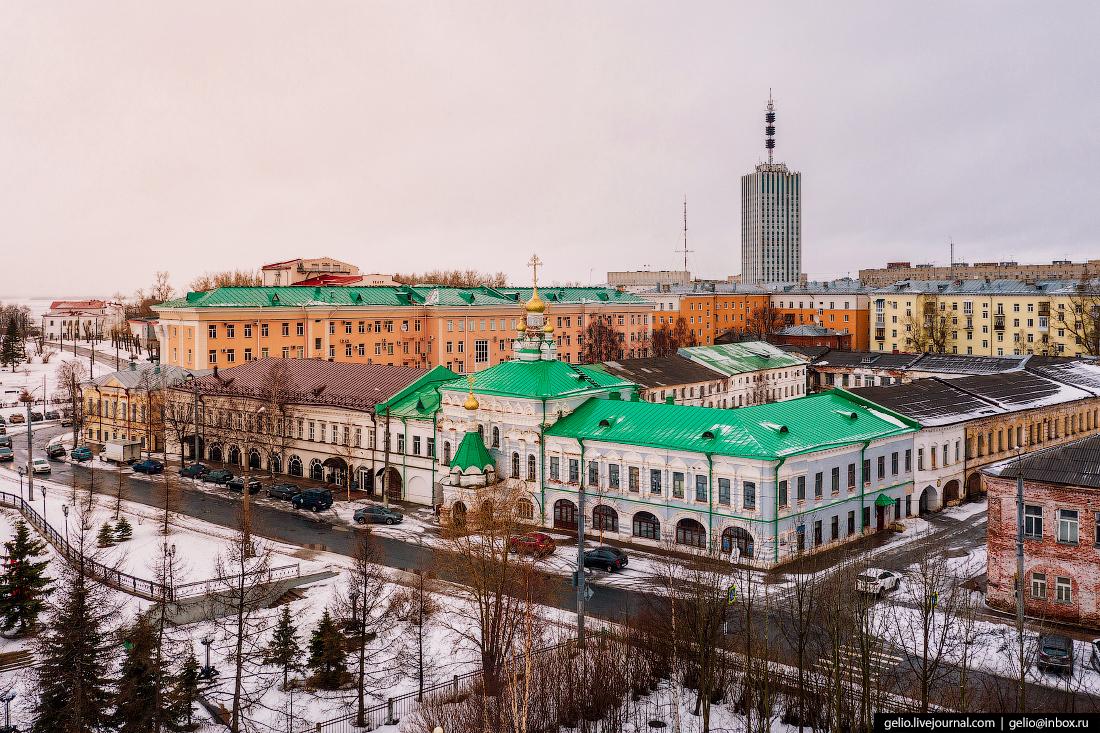 Архангельск с высоты Архитектурный комплекс Николо-Корельского подворья