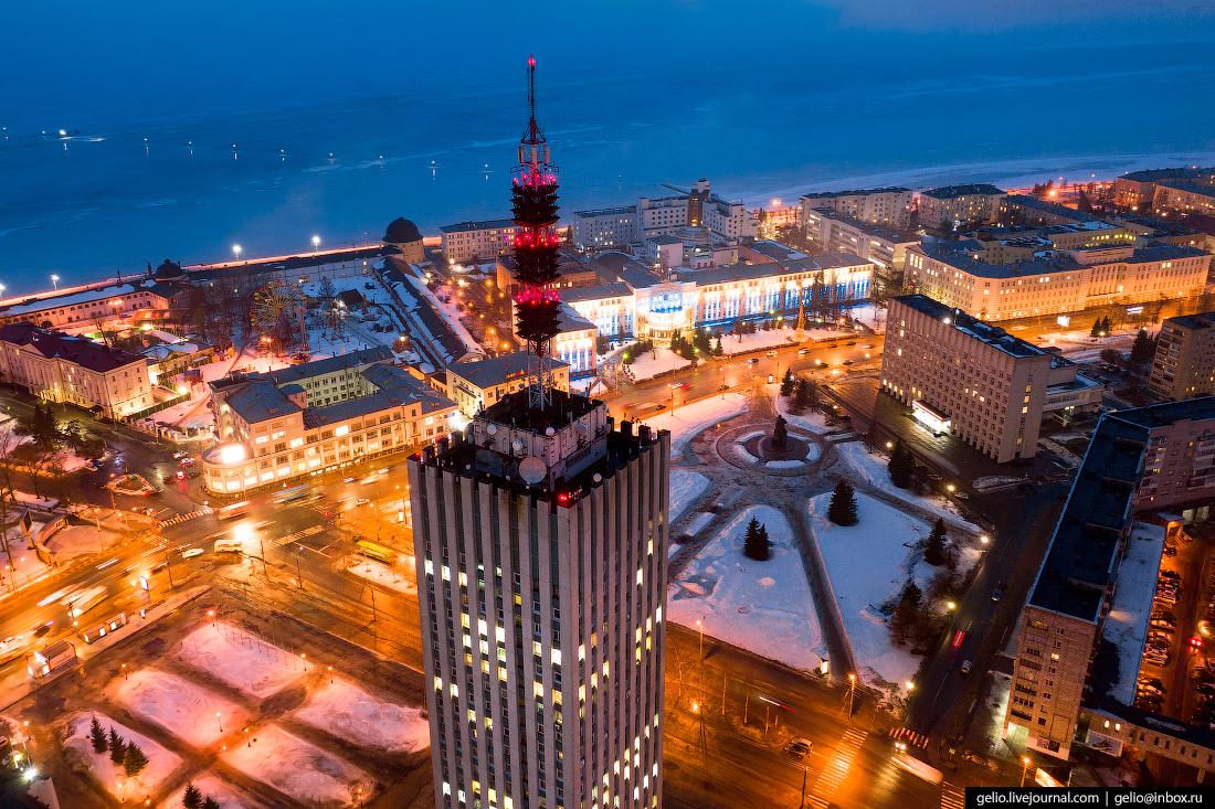 Архангельск с высоты Здание проектных организаций