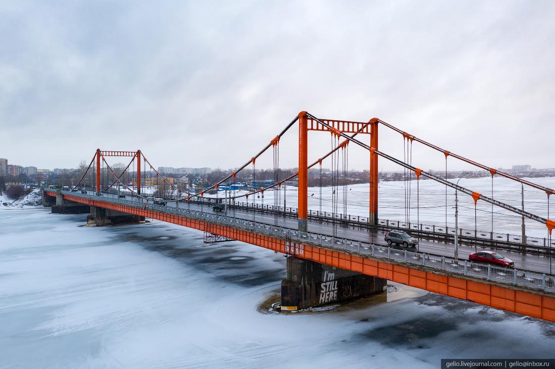 Архангельск Автомобильный Кузнечевский мост
