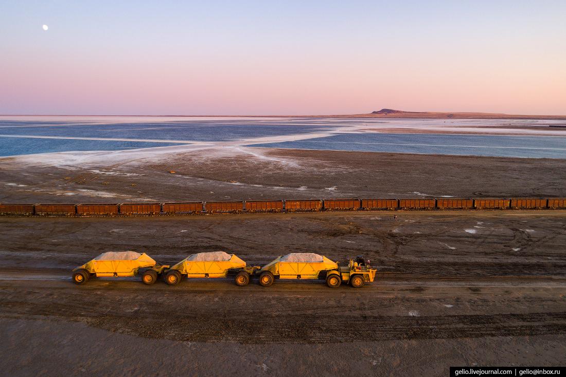 Озеро Баскунчак добыча соли