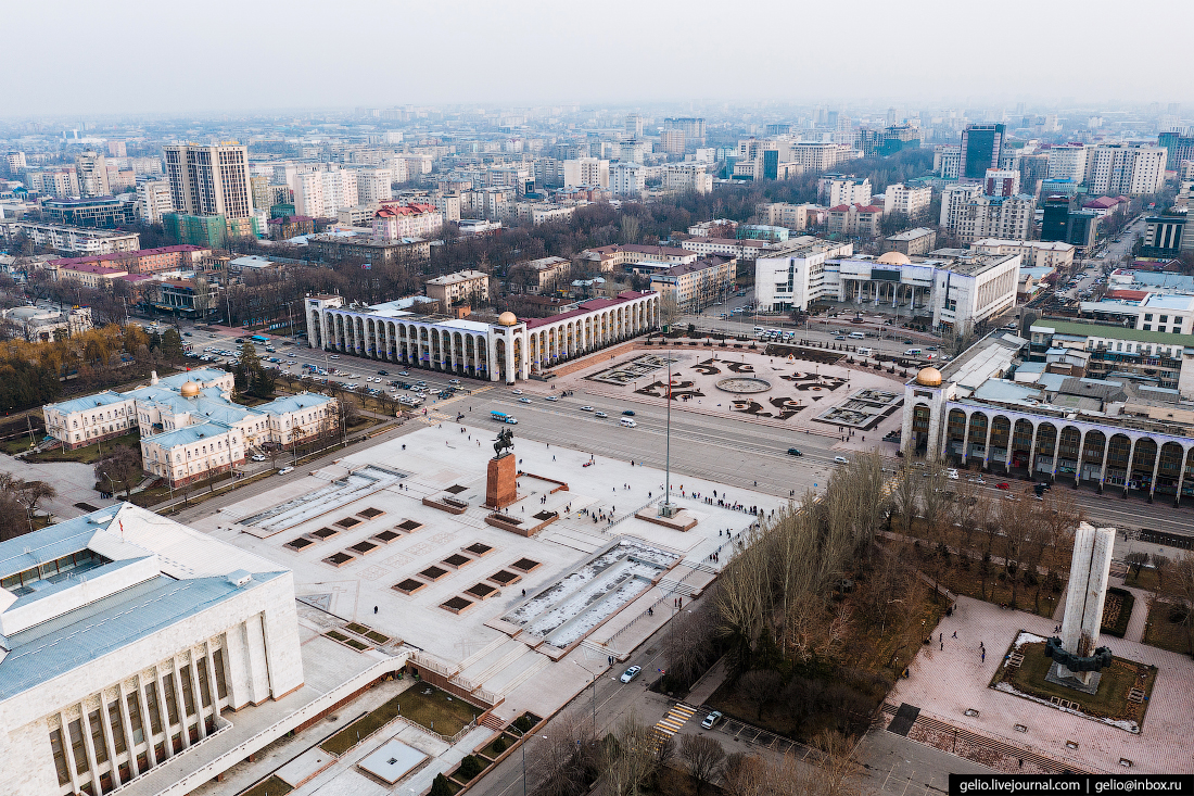 Bishkek Бишкек с высоты Площадь Ала-Тоо
