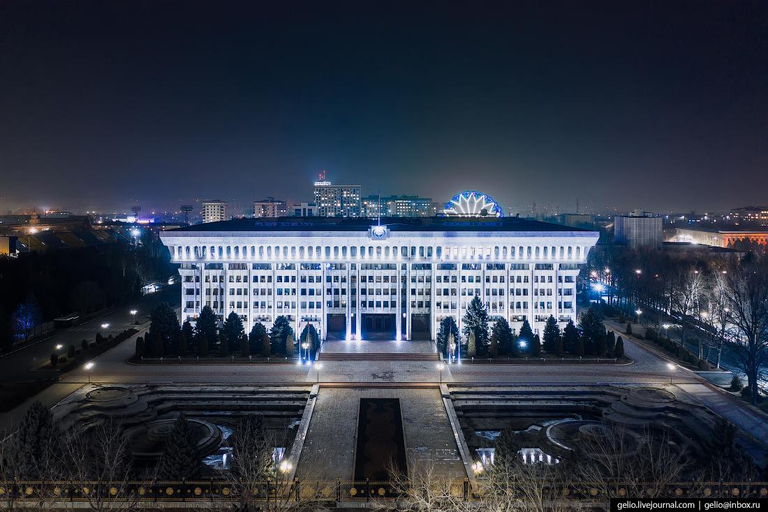 Bishkek Бишкек с высоты Белый дом