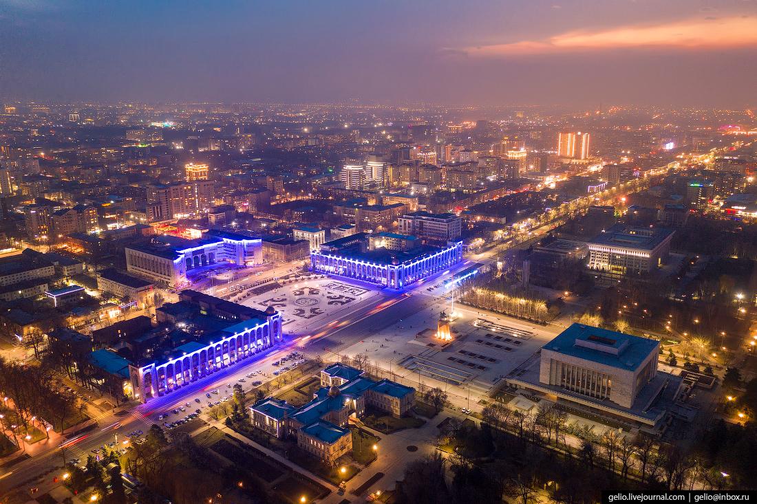 Bishkek Бишкек с высоты Проспект Чуй