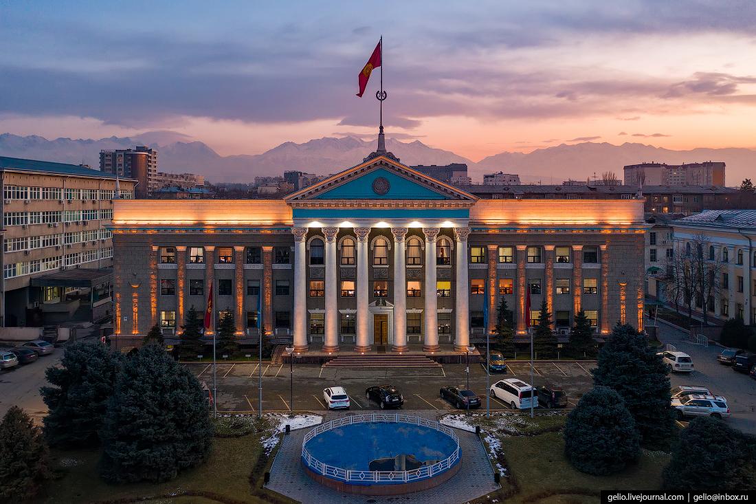 Bishkek Бишкек с высоты Здание мэрии Бишкека