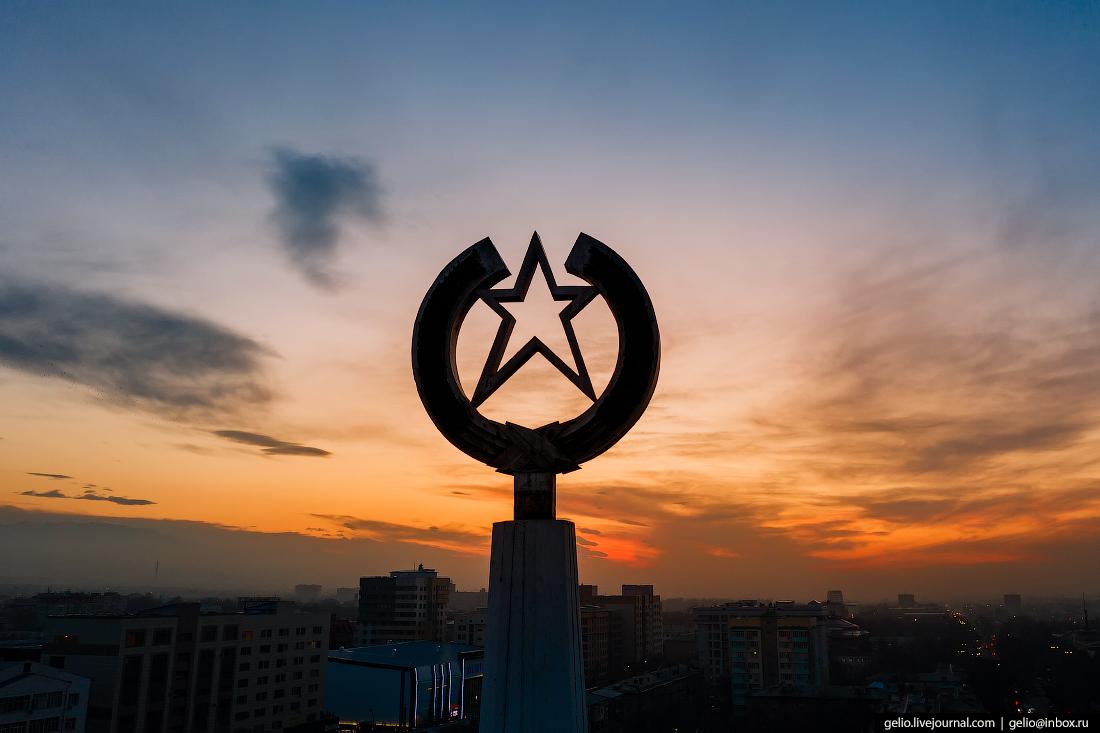 Bishkek Бишкек с высоты Шпиль