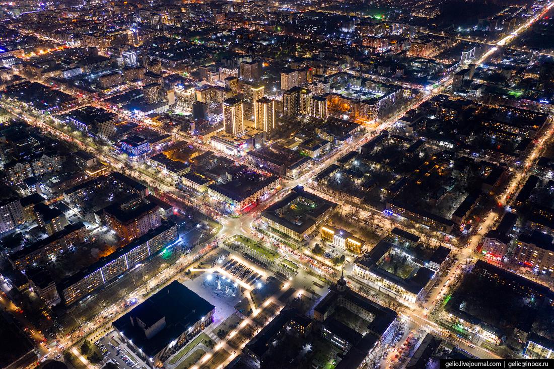 Bishkek Бишкек с высоты проспект Манаса