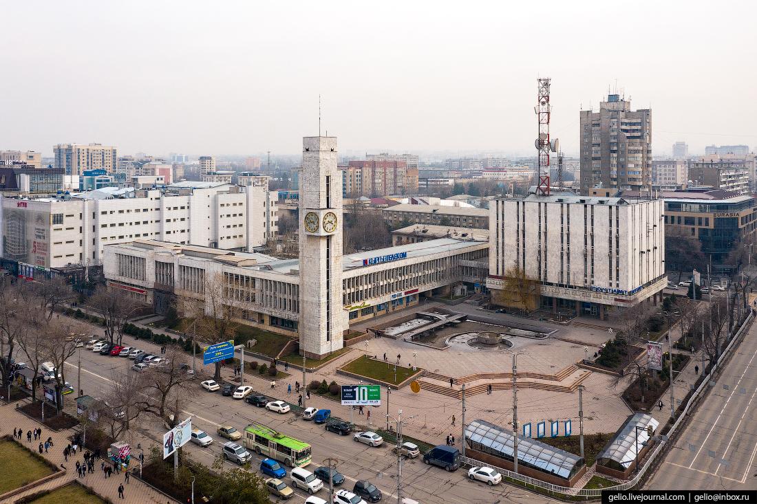 Bishkek Бишкек с высоты Кыргызтелеком Главпочтамт