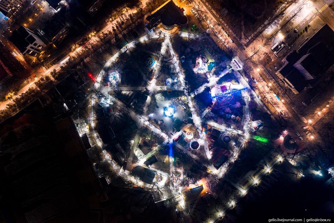 Bishkek Бишкек с высоты Центральный городской парк