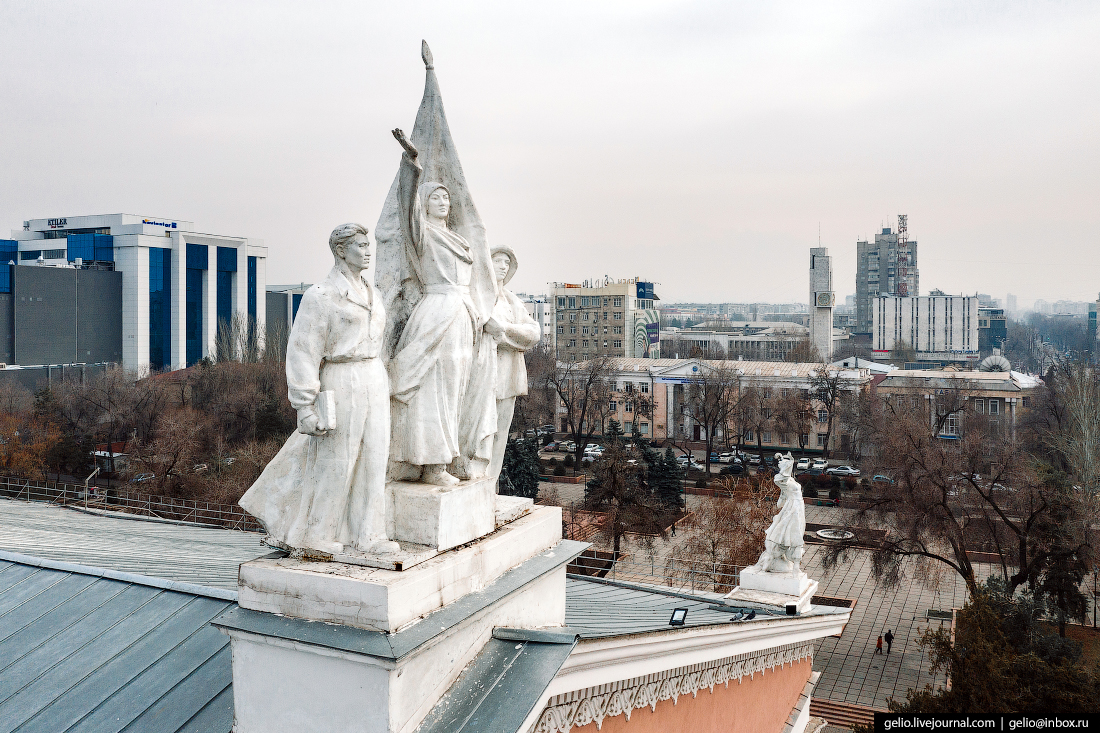 Bishkek Бишкек с высоты Театр оперы и балета