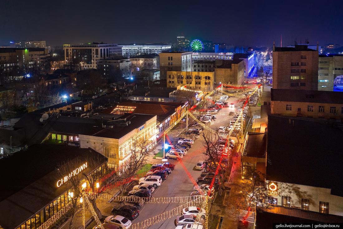 Bishkek Бишкек с высоты Улица Абдыкадыра Орозбекова