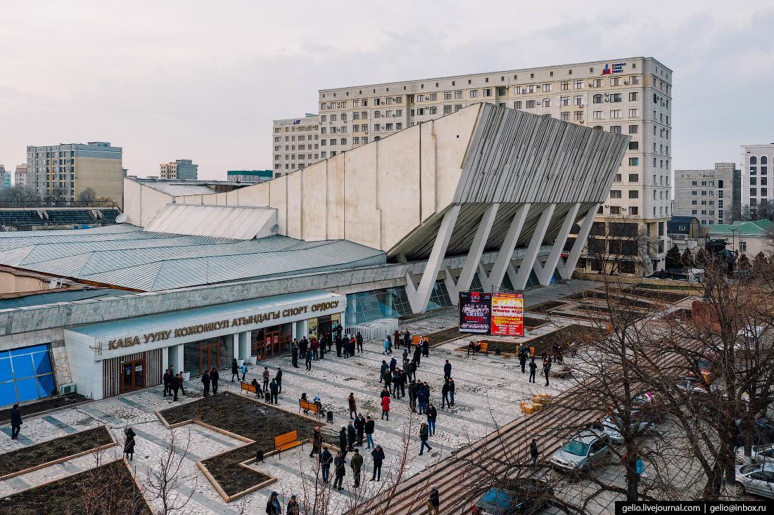 Bishkek Бишкек с высоты Дворец спорта Кожомкула