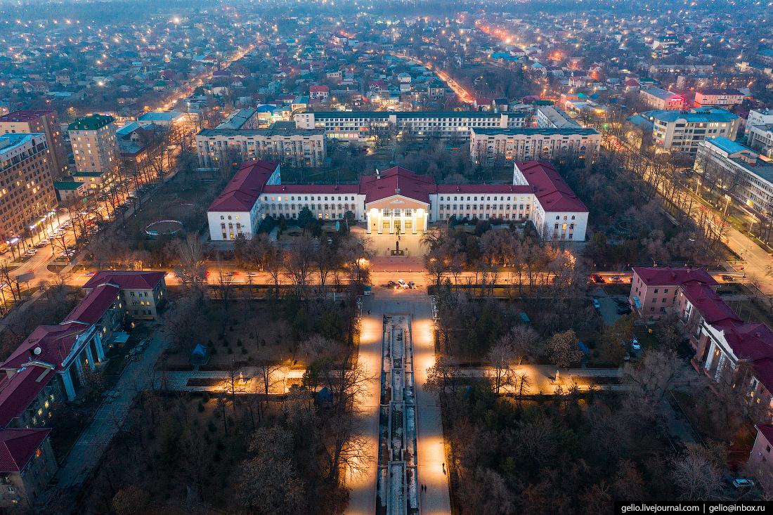 Bishkek Бишкек с высоты Кыргызский национальный университет