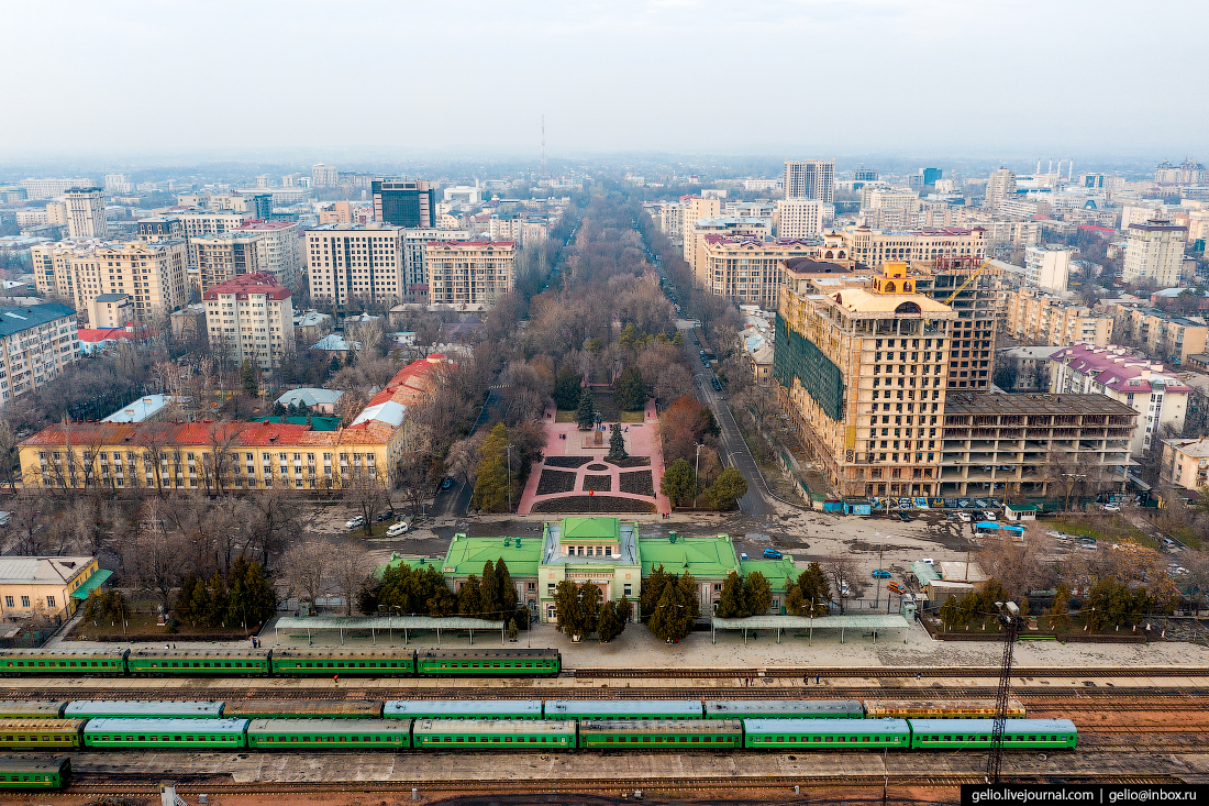 Bishkek Бишкек с высоты вокзал