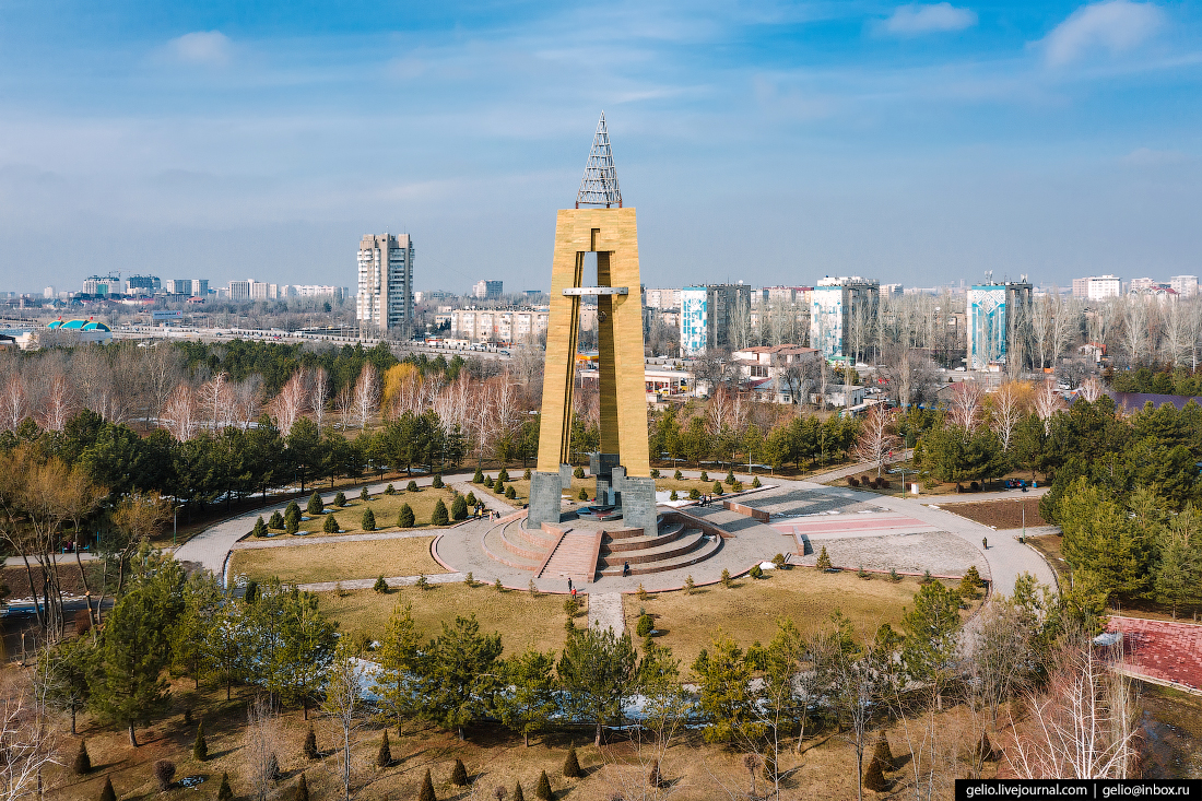 Bishkek Бишкек с высоты Памятник Победы