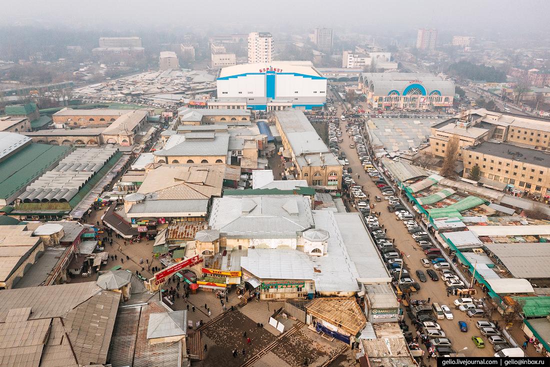 Bishkek Бишкек с высоты Ошский базар