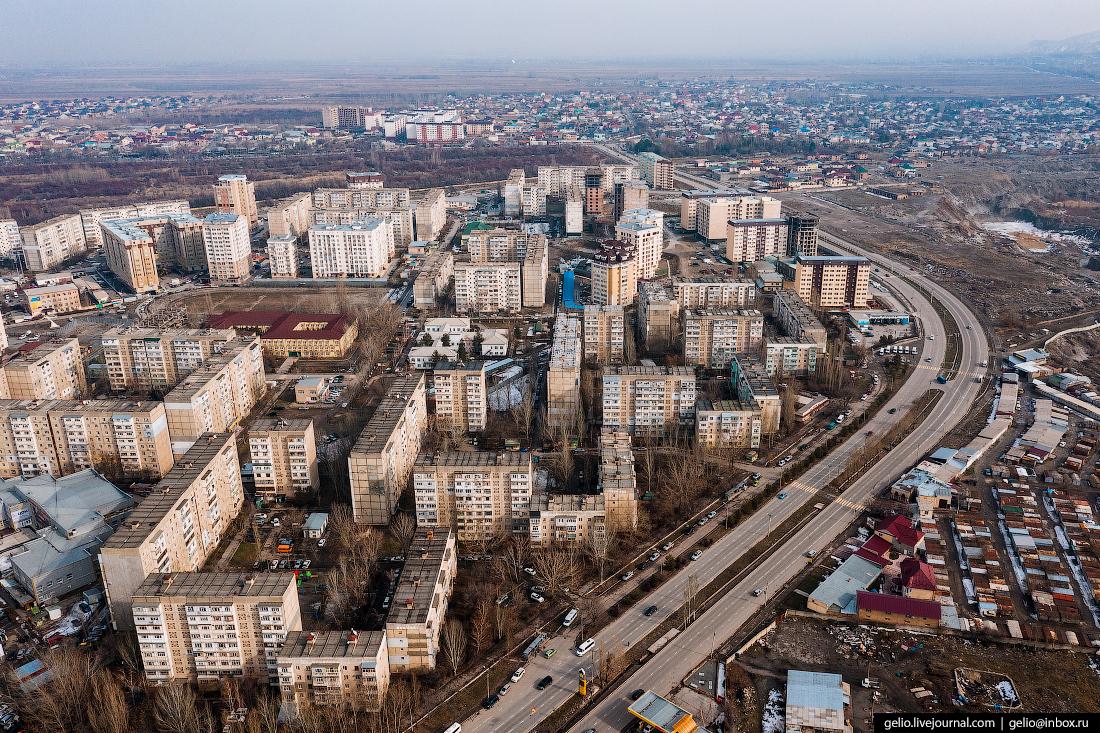 Bishkek Бишкек с высоты микрорайон