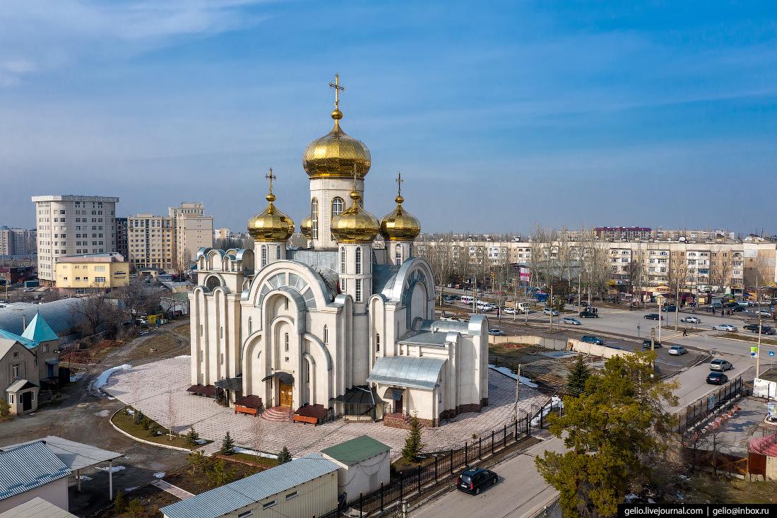 Bishkek Бишкек с высоты Храм Князя Владимира