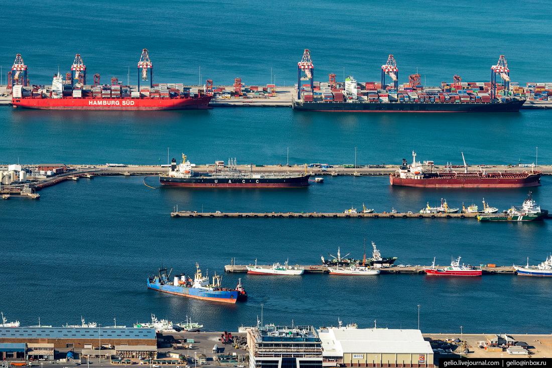 Морской порт ЮАР Кейптаун с высоты