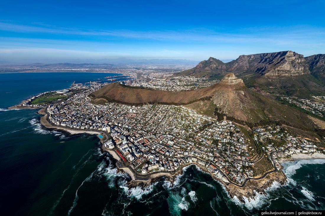 ЮАР Кейптаун с высоты