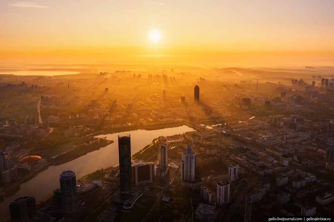 Виды Екатеринбург с высоты Городской пруд