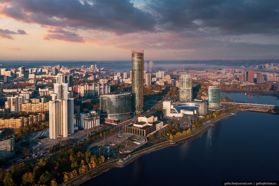Виды Екатеринбург с высоты Екатеринбург-Сити