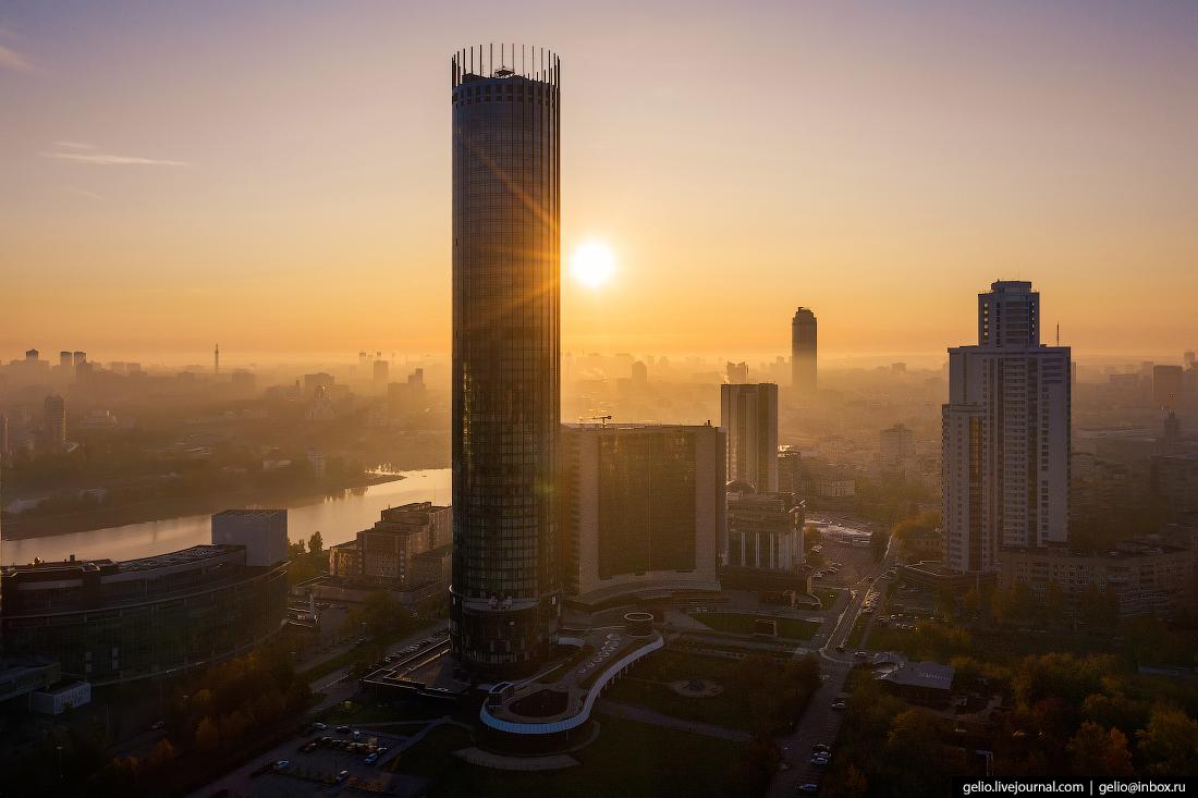 Виды Екатеринбург с высоты башня исеть