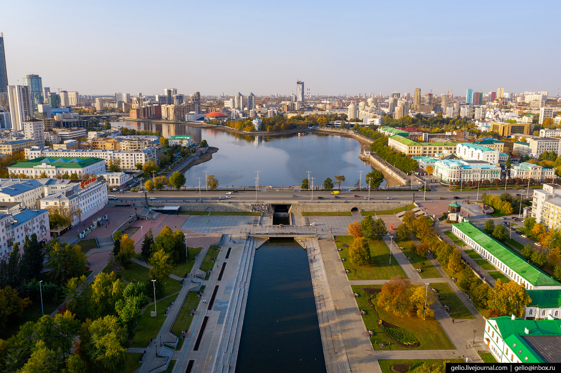 Виды Екатеринбург с высоты Плотинка