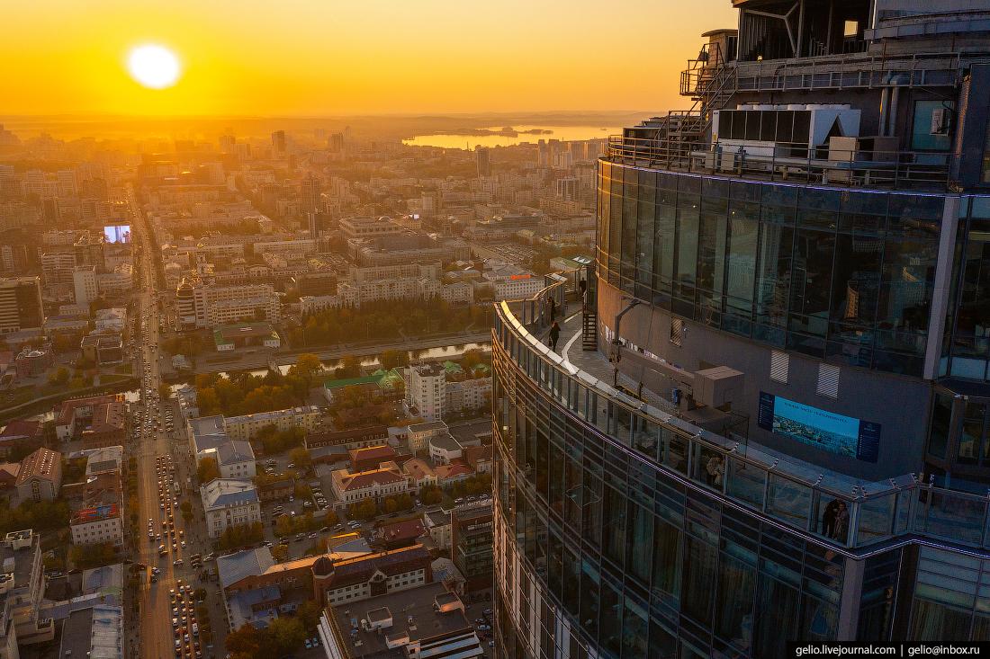 Виды Екатеринбург с высоты Высоцкий смотровая