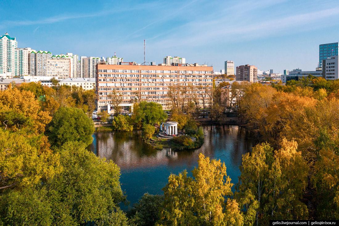 Виды Екатеринбург с высоты Пруд в парке усадьбы Харитоновых-Расторгуевых