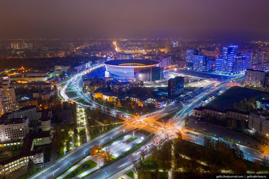 Виды Екатеринбург с высоты стадион арена