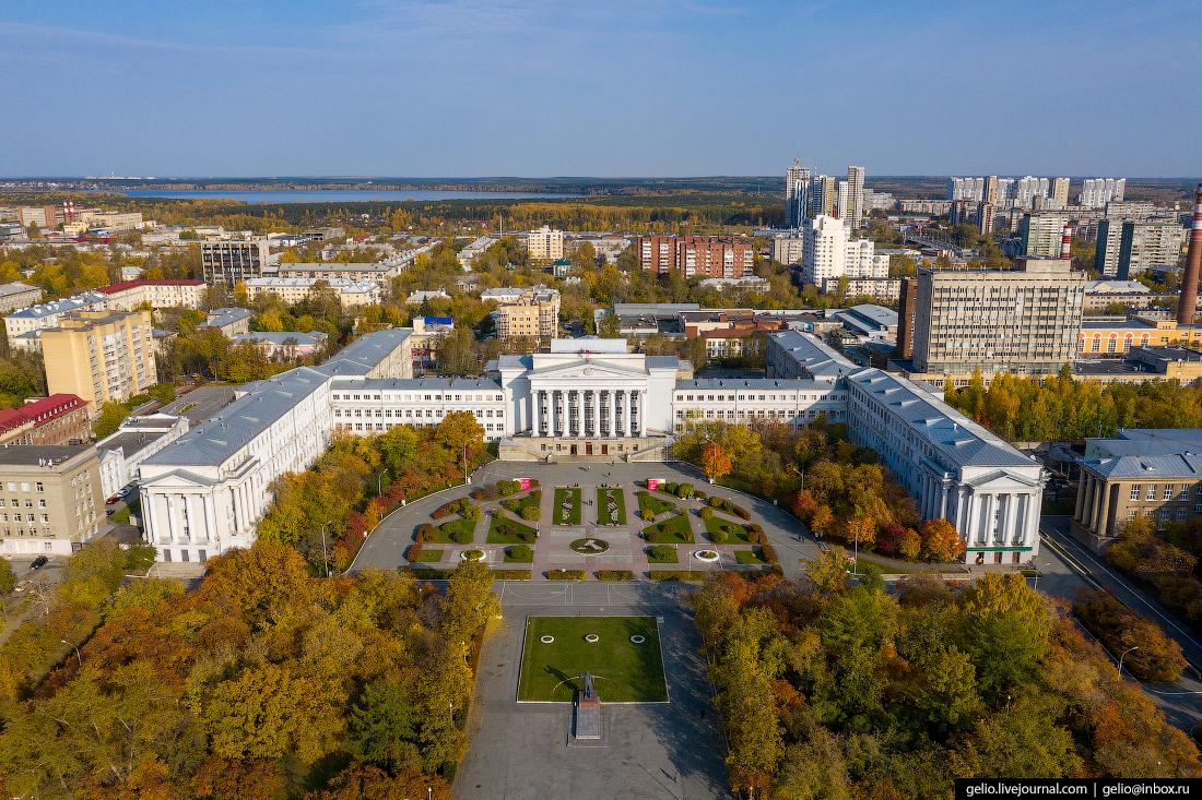 Виды Екатеринбург с высоты Уральский федеральный университет имени Ельцина