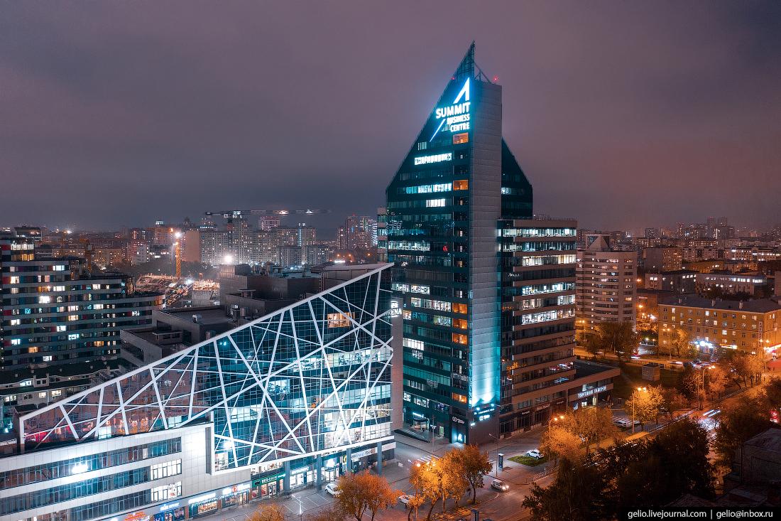 Виды Екатеринбург с высоты арена саммит