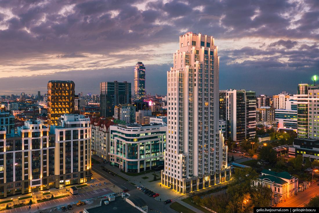 Виды Екатеринбург с высоты эверест