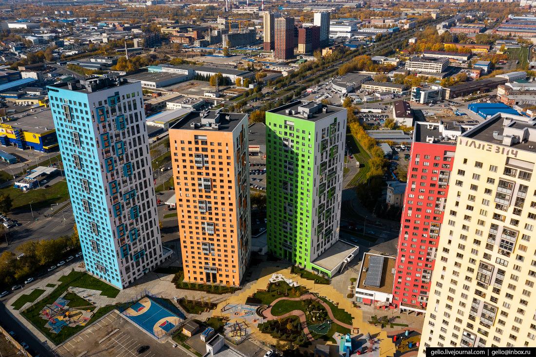 Виды Екатеринбург с высоты Малевич