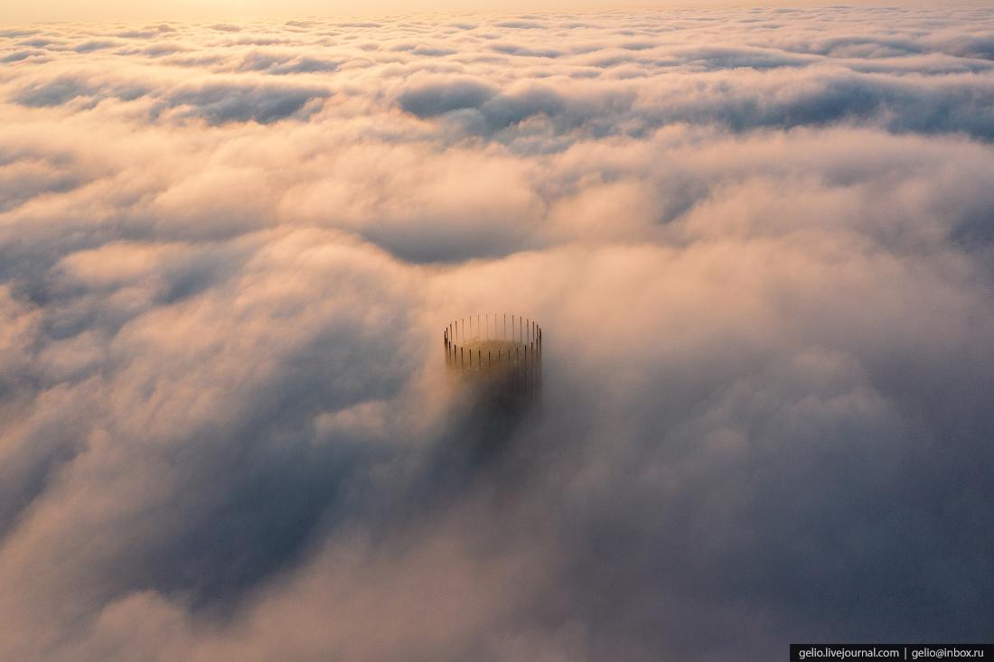 Виды Екатеринбург с высоты исеть небоскрёб