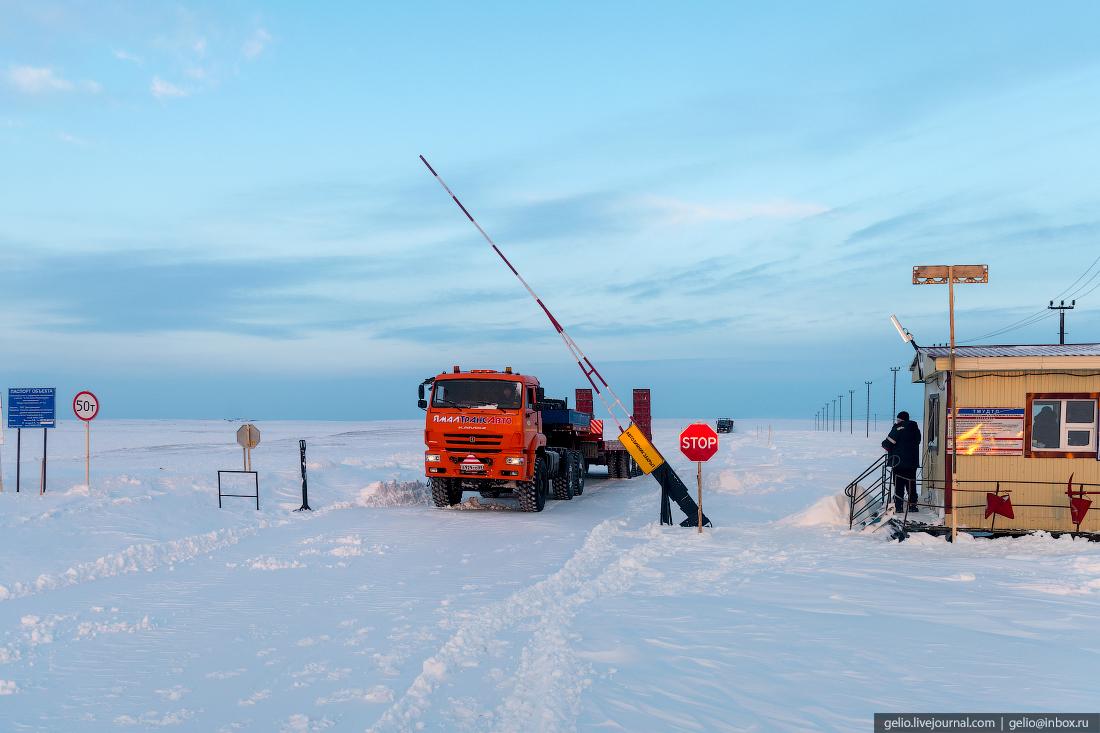 КПП, зимник, поиск разведка нефти, крайний север, сейсморазведка