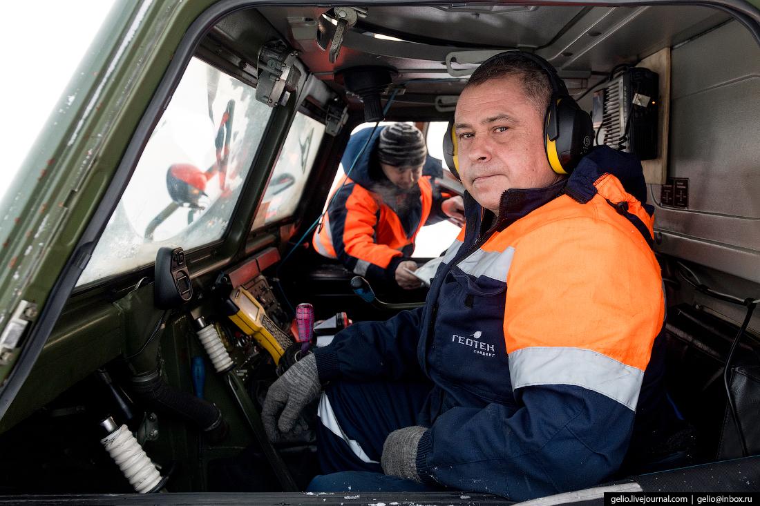 водитель, поиск разведка нефти, крайний север, сейсморазведка