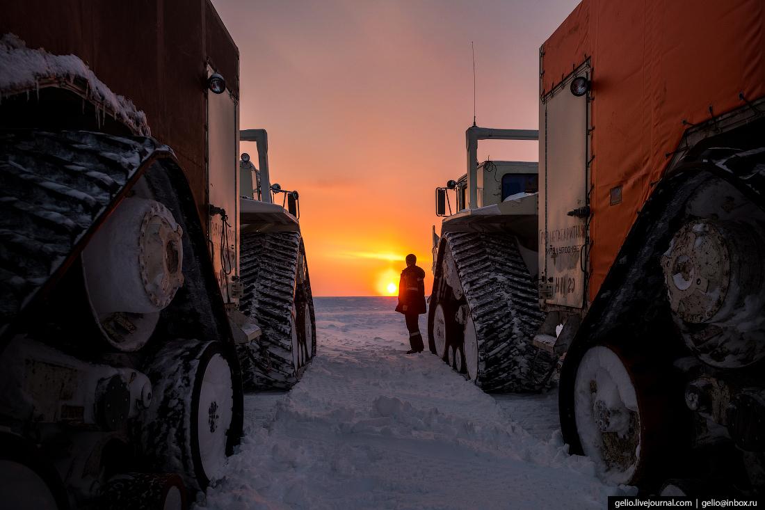 Вибрационная установка, поиск разведка нефти, крайний север, сейсморазведка