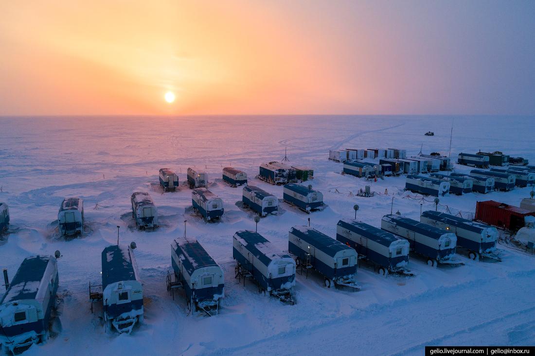 лагерь, поиск разведка нефти, крайний север, сейсморазведка