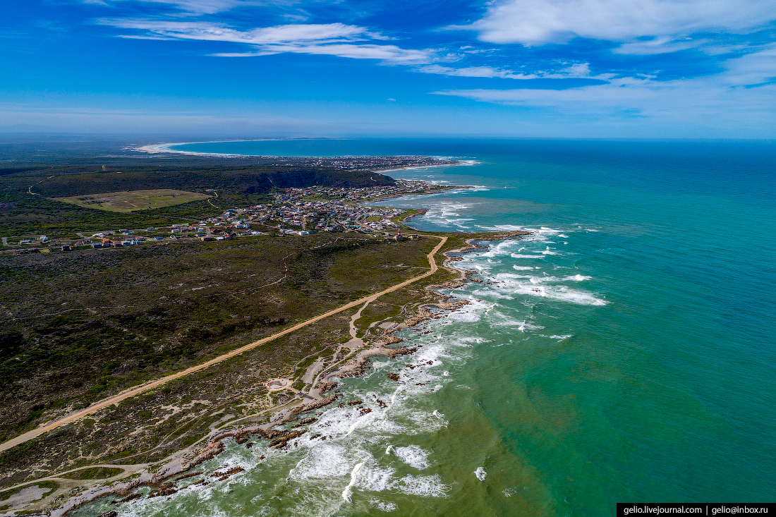 Мыс Игольный, Cape Agulhas, ЮАР, самая южная точка Африки