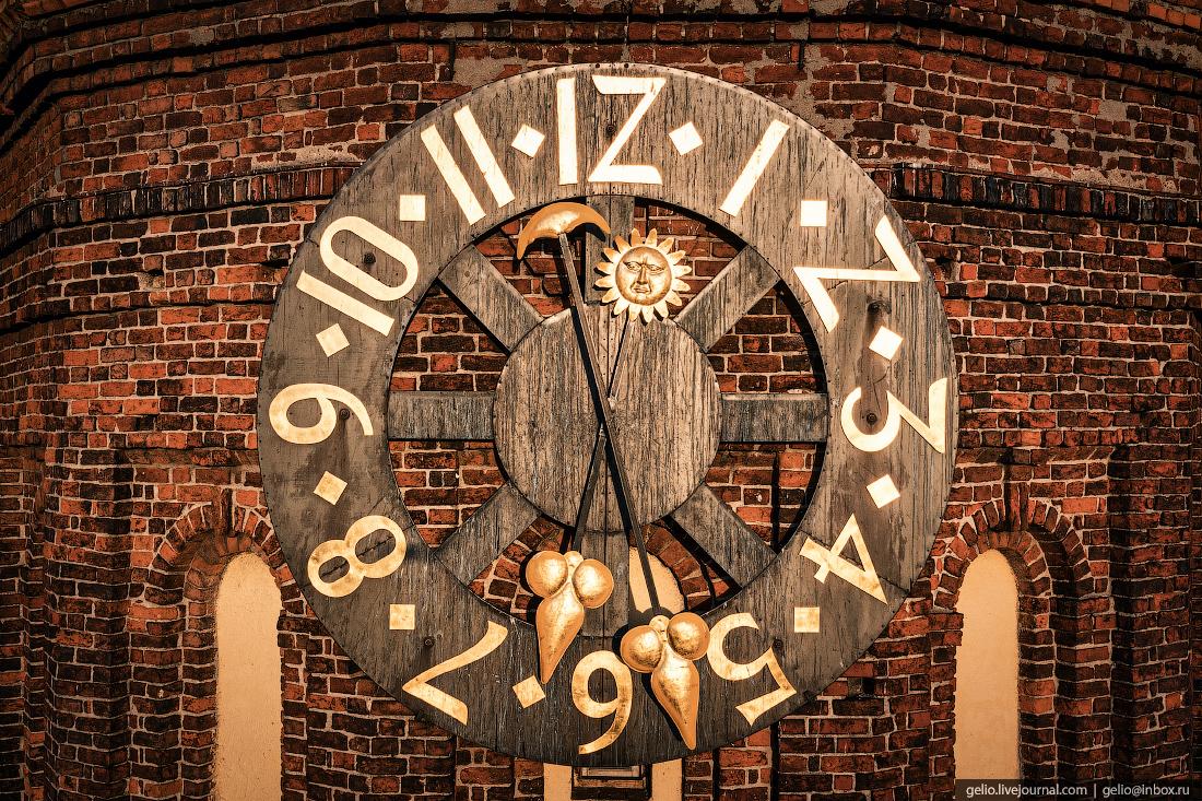калининград, калининград с высоты, Кафедральный собор, часы