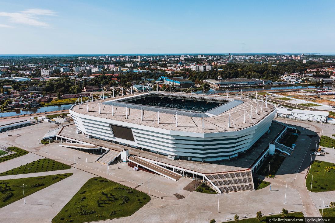 калининград, калининград с высоты, Футбольный стадион