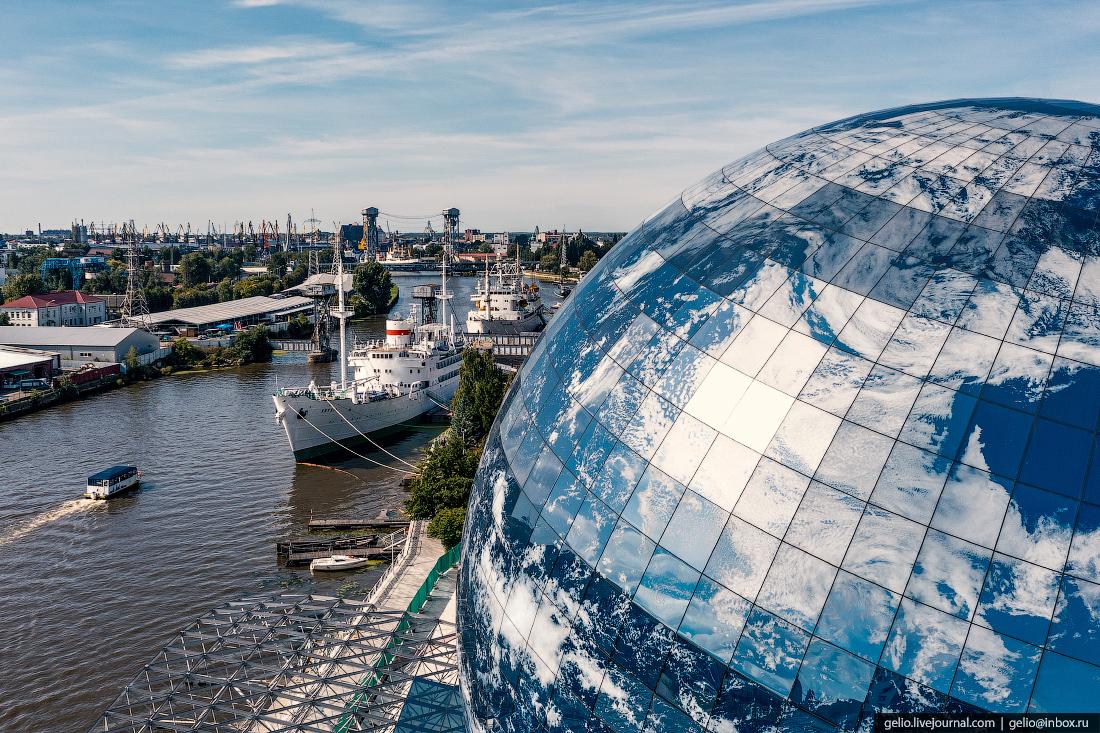 калининград, калининград с высоты, Музей Мирового океана, планета