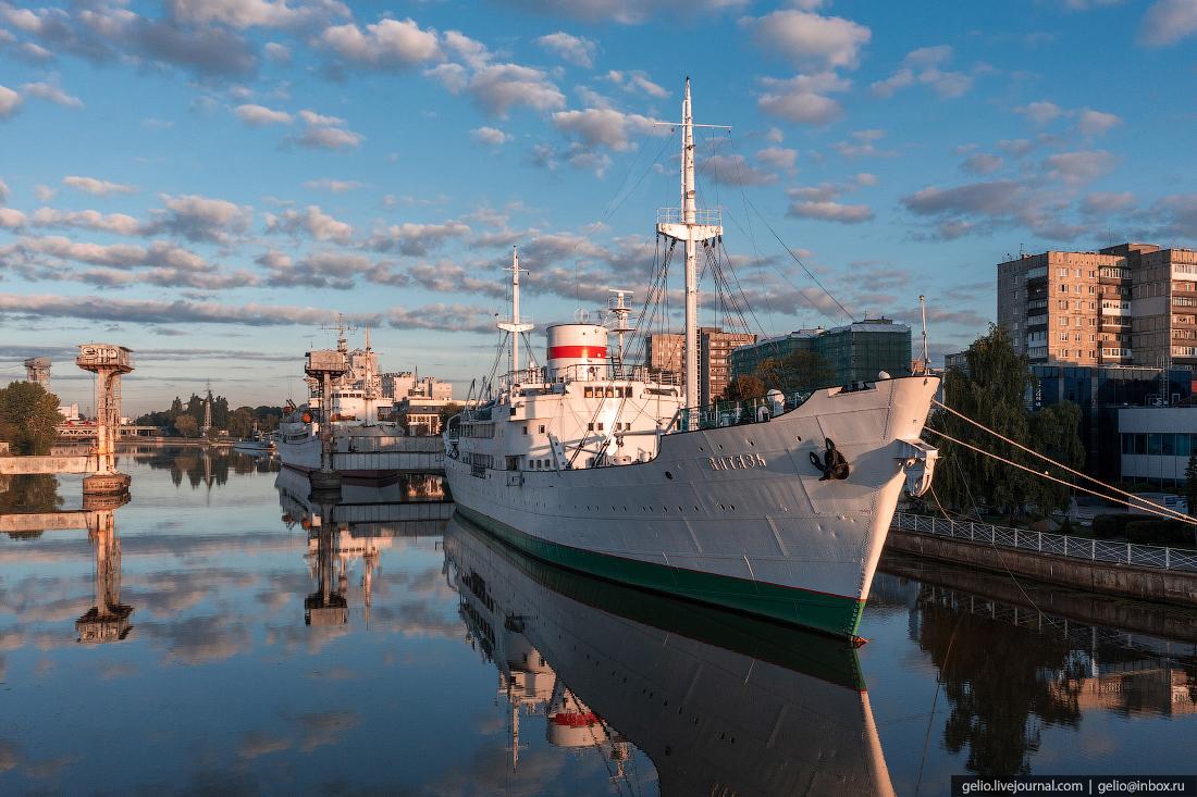 калининград, калининград с высоты, Музей Мирового океана, витязьЮ, корабль, судно, теплоход